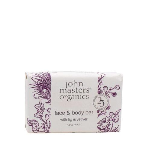 John Masters Organics Fig & Vetiver Bar Soap Saponetta Viso e Corpo 128gr