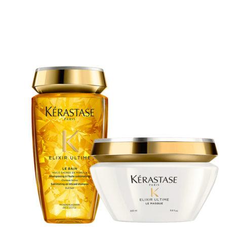 Kerastase Elixir Ultime Kit Idratante Shampoo 250ml e Maschera 200ml
