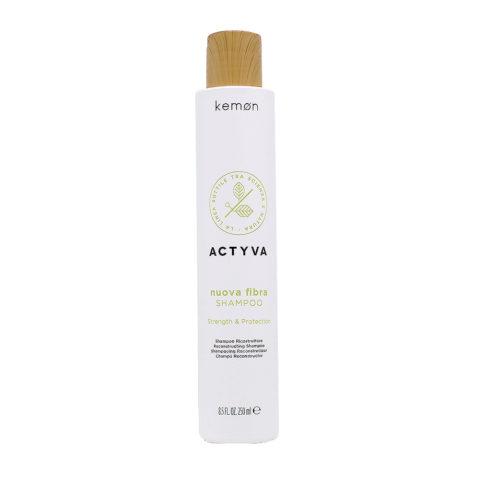 Kemon Actyva Nuova Fibra Shampoo Ristrutturante Capelli Danneggiati 250ml
