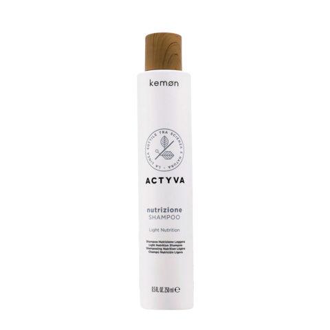Kemon Actyva Nutrizione Shampoo Idratante per Capelli Secchi 250ml