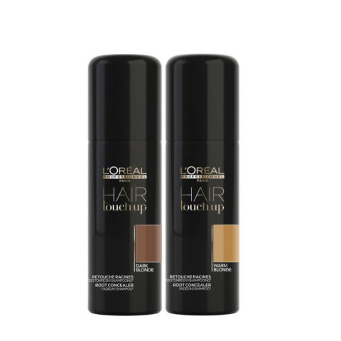 L'Oreal Set Hair Touch Up Biondo Scuro 75ml e Biondo Dorato 75ml