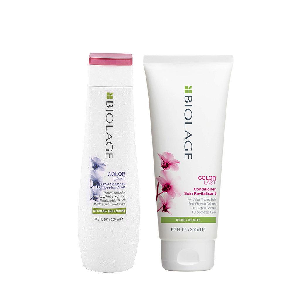 Biolage Set per Capelli Biondi Shampoo Antigiallo 250ml e Balsamo 200ml