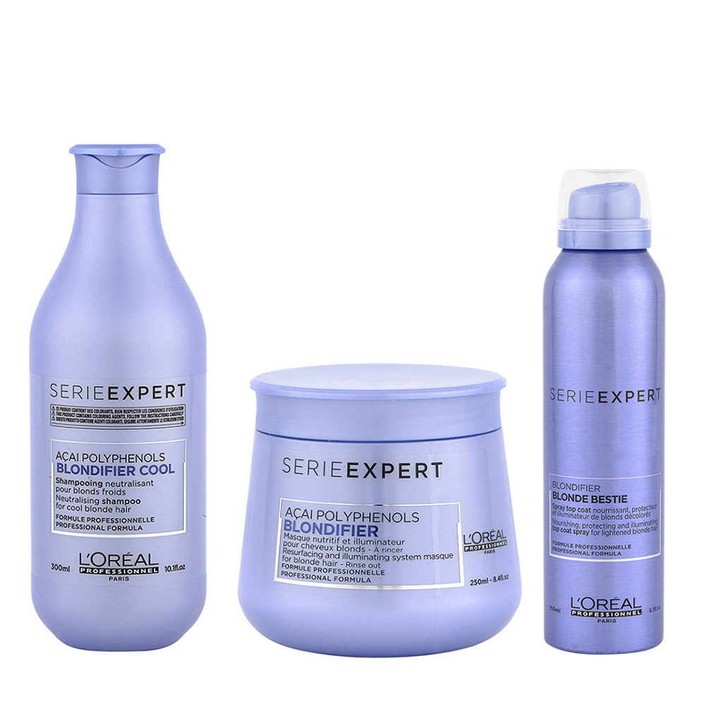L'Oreal Set Blondifier Shampoo 300ml Maschera 250ml e Spray 150ml