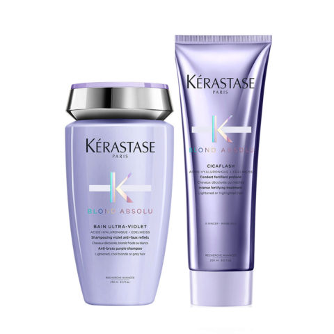 Kerastase Blond absolu Kit Shampoo antigiallo 250ml e Balsamo 250ml
