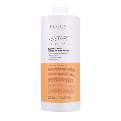 Revlon Restart Recovery Restorative Micellar Shampoo ristrutturante capelli rovinati 1000ml