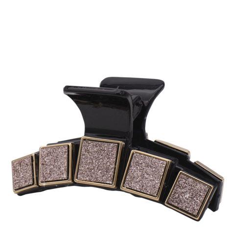 VIAHERMADA Pinza per Capelli con Fibbie Glitterate Oro Rosa