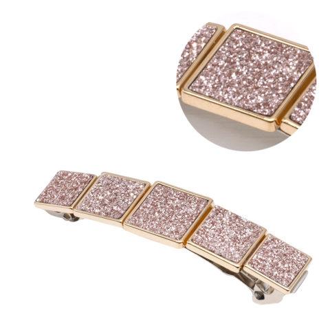 VIAHERMADA Fermacapelli con Fibbie Glitterate Oro Rosa