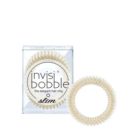 Invisibobble Slim Elastico per Capelli Fini Platino Metallizzato