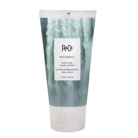 R + Co Waterfall Moisture + Shine Lotion Crema Idratante leggera 147ml