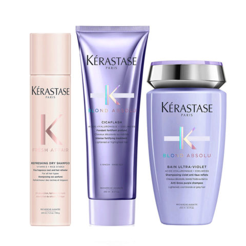 Kerastase Fresh Affair + Blond Absolu Set per Capelli Biondi e Decolorati