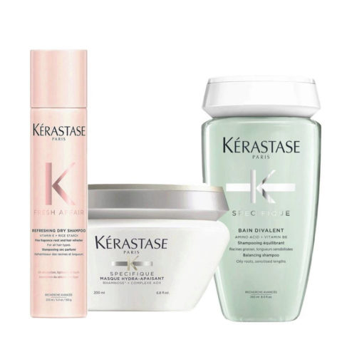 Kerastase Fresh Affair + Divalent Set cute appesantita lunghezze sensibilizzate