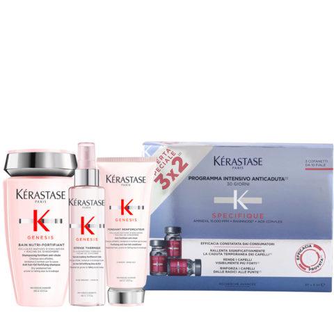 Kerastase Genesis Rituale Idratazione Delicata e Protezione + Kerastase Aminexil Specifique 30 fiale Anticaduta