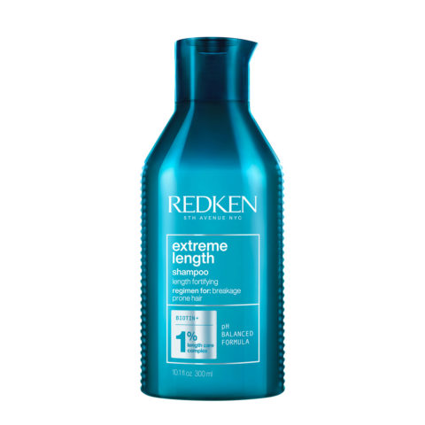 Redken Extreme Lenght Shampoo 300ml - shampoo rinforzante per capelli lunghi