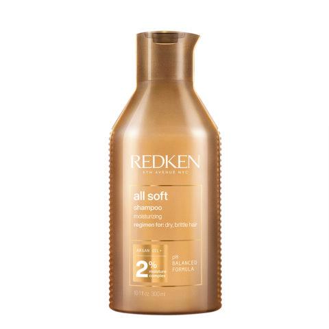 Redken All Soft Shampoo 300ml - shampoo detergente per capelli secchi