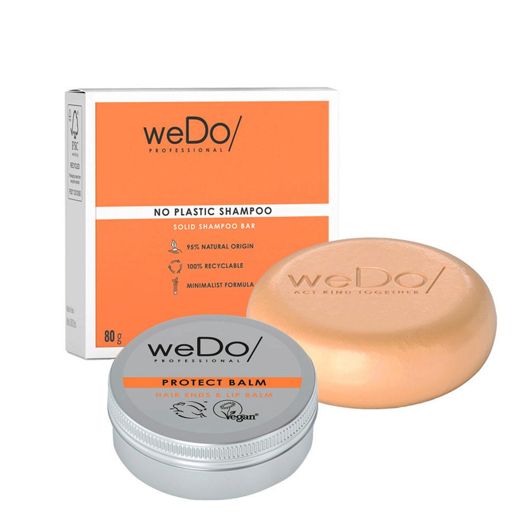weDo No Plastic Shampoo Solido 80gr + Protect Balm 25gr