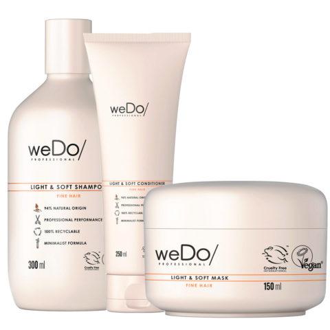 weDo Light & Soft Shampoo 300ml + Soft Conditioner 250ml +  Soft Mask 250ml