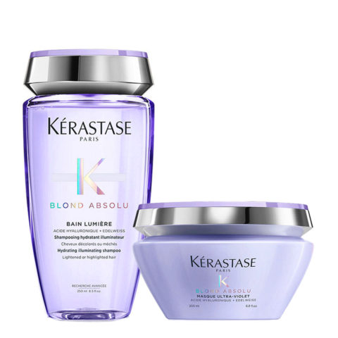 Kerastase Blond Absolu Bain lumiere Shampoo 250ml + Maschera antigiallo 200ml