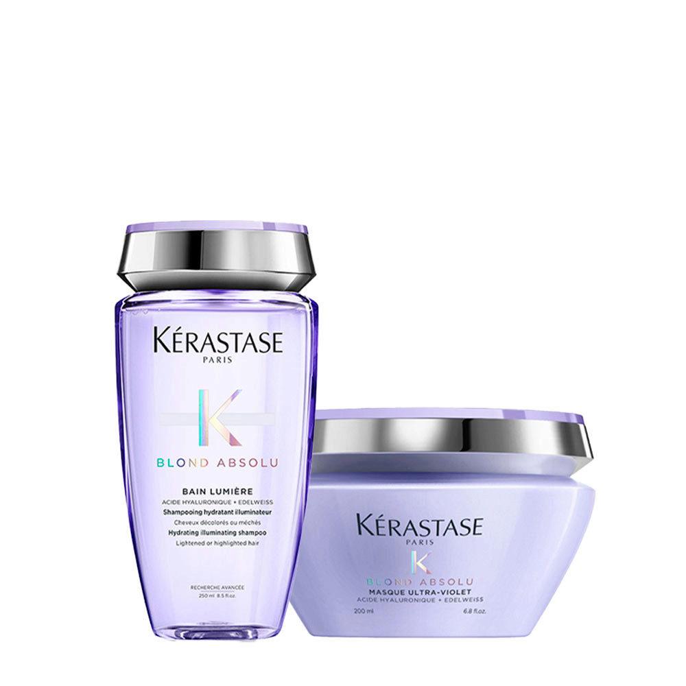 Kerastase Blond Absolu Bain lumiere Shampoo 250ml + Maschera antigiallo 200ml