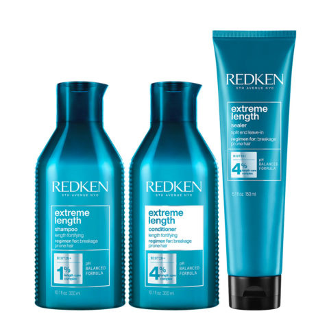 Redken Extreme Lenght Shampoo 300ml + Conditioner 300ml + Length Sealer 150ml