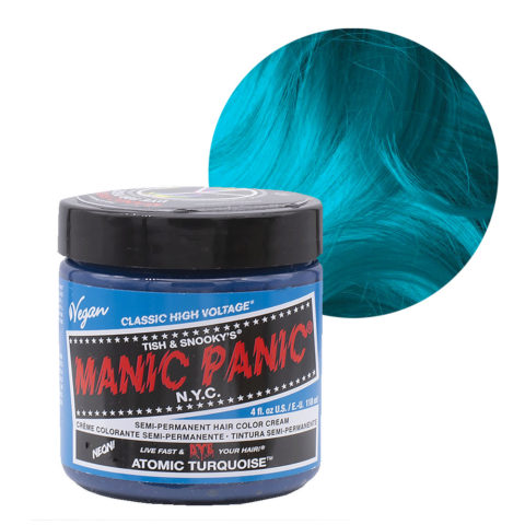 Manic Panic Classic High Voltage Atomic Turquoise 118ml - Crema Colorante Semi-Permanente