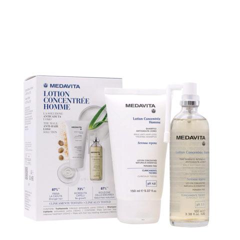 Medavita Lotion Concentree Homme Shampoo 150ml Trattamento Intensivo Anticaduta 100ml