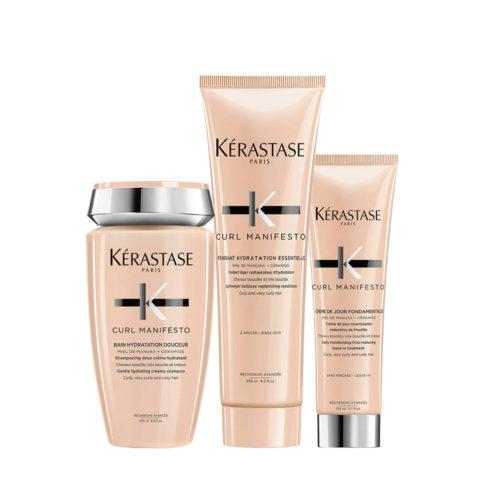 Kerastase Curl Manifesto Kit Capelli Ricci Shampoo250ml Balsamo250ml Crema150ml