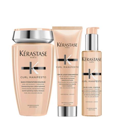 Kerastase Curl Manifesto Kit Capelli Ricci Shampoo250ml Crema150ml Crema-Gel150ml