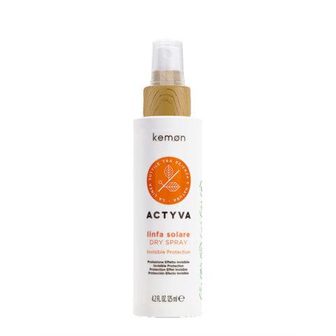 Kemon Actyva Linfa Solare Dry Spray SN Velian 125ml - Spray protezione effetto invisibile per capelli