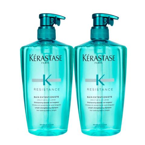 Kerastase Resistance Extentioniste Kit 2 Shampoo 500ml+ 500ml - rinforzante per capelli lunghi