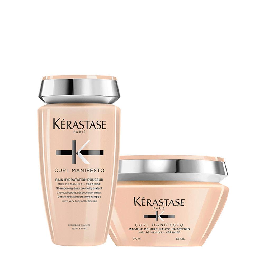 Kerastase Curl Manifesto Kit Capelli Ricci Shampoo 250ml, Maschera 200ml