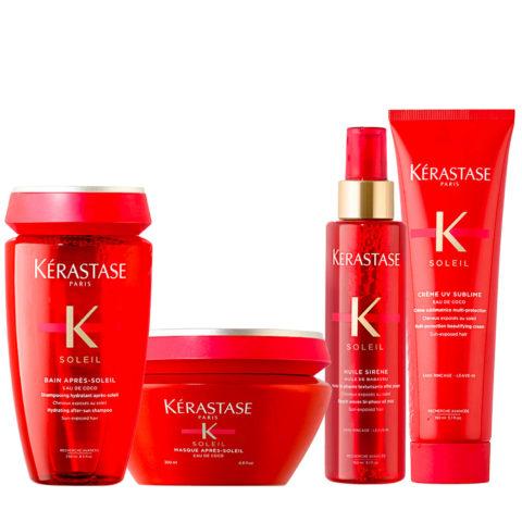 Kerastase Soleil Kit Protezione Solare Crema Protettiva 150ml  Shampoo 250ml Maschera 200ml Olio 150ml