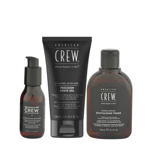 American Crew Kit Rasatura Shave Oil 50ml Shave Gel 150ml Toner150ml