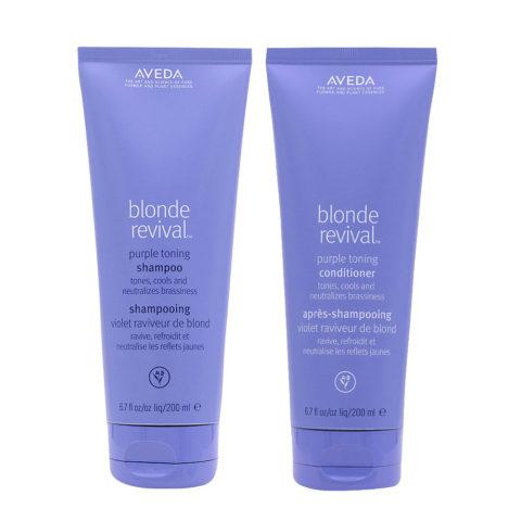 Aveda Blonde Revival Kit Purple Toning Shampoo 200ml Conditioner 200ml