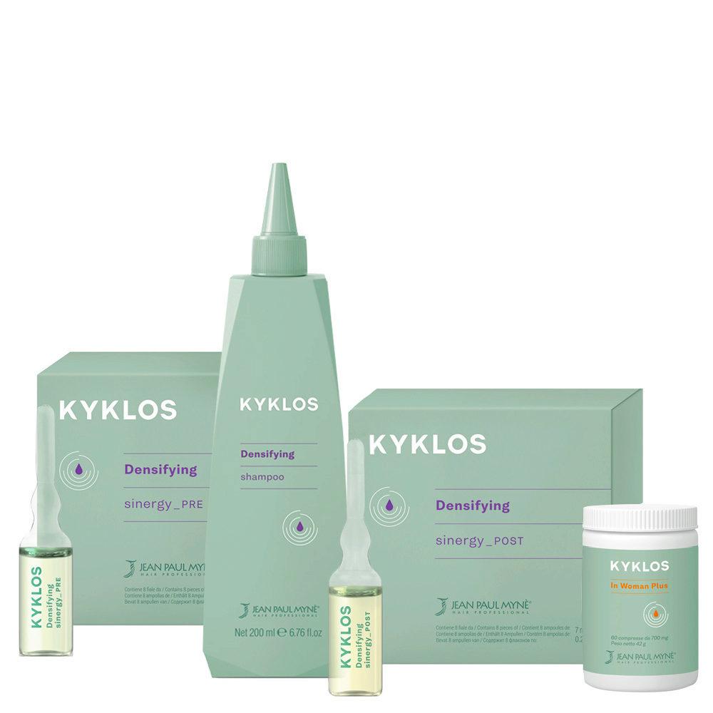 Jean Paul Mynè Kyklos Densifying Kit Completo per Donna in Menopausa- trattamento anticaduta per Menopausa
