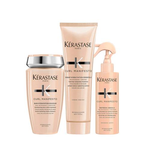 Kerastase Curl Manifesto Kit Capelli Ricci Shampoo250ml Balsamo250ml Spray150ml