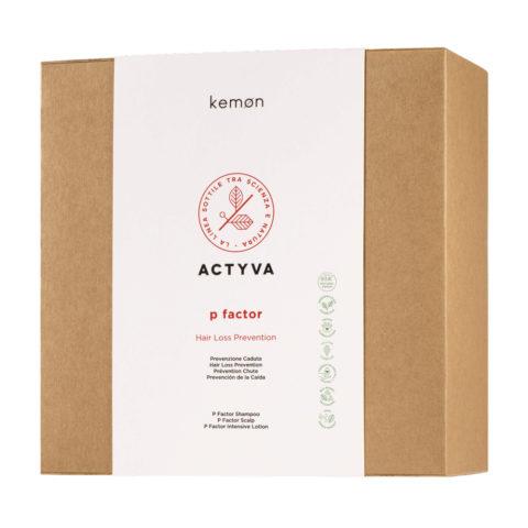 Kemon Actyva P Factor Hair Loss Lotion Prevention Kit- sistema di trattamento in 4 prodotti