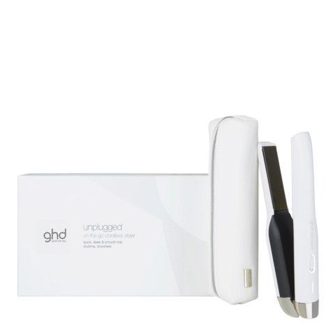 GHD Unplugged White - piastra senza fili