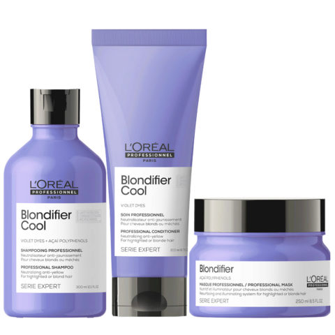 L'Oréal Professionnel Paris Serie Expert kit Biondi Naturali Shampoo 300ml  Balsamo 200ml Maschera 250ml