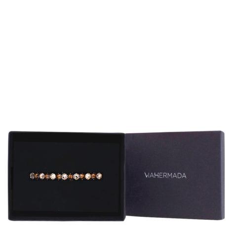 VIAHERMADA Fermacapelli Matic con Cristalli Ambra