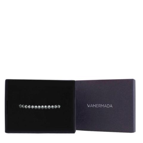 VIAHERMADA Fermacapelli Matic con Cristalli Antracite