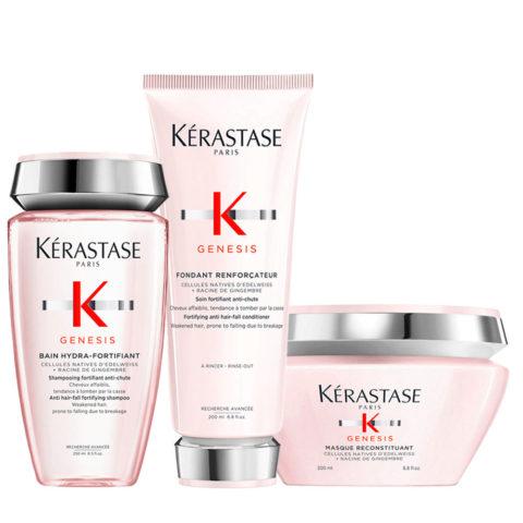 Kérastase Genesis Kit Anticaduta Shampoo 250ml Balsamo 200ml e Maschera 200ml