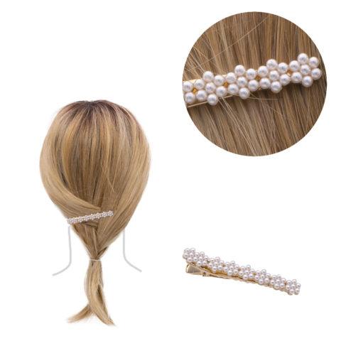 VIAHERMADA Clip per capelli con Perline 6.2x0.8cm