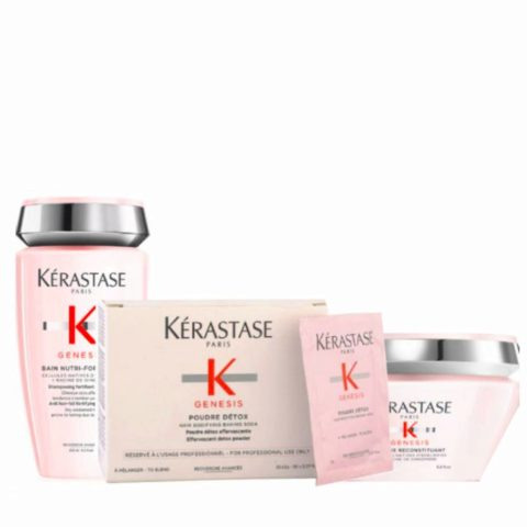 Kerastase Genesis Kit Anticaduta Shampoo 250ml Polvere Detox 2grx30bustine Maschera 200ml
