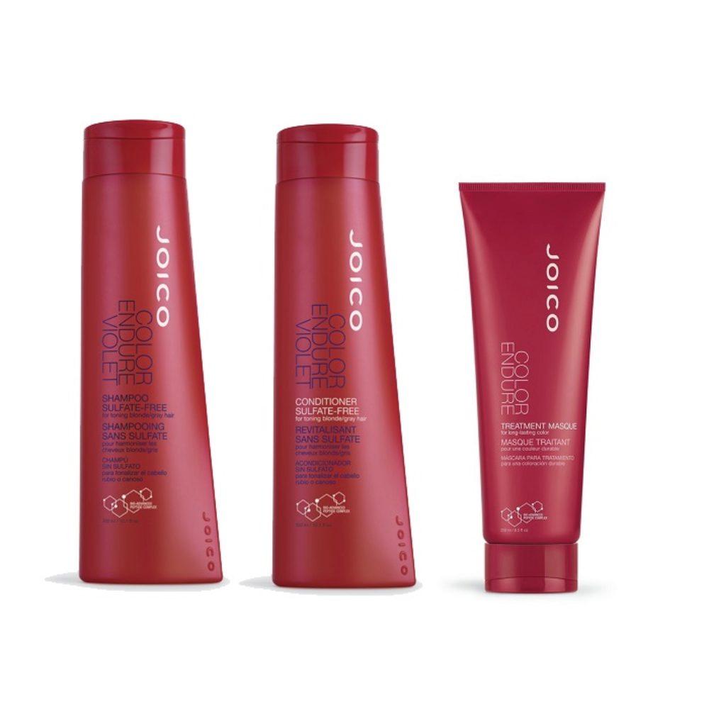 Joico Color endure Kit2 Violet Shampoo 300ml Violet Conditioner 300ml Treatment masque 250ml