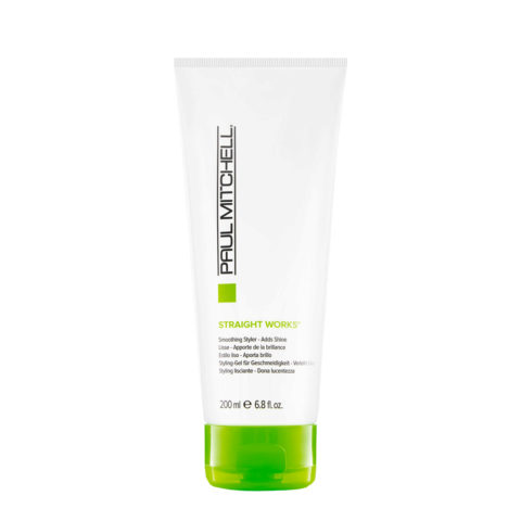 Paul Mitchell Smoothing Straight works Gel Anticrespo Capelli Ricci Grossi 200ml